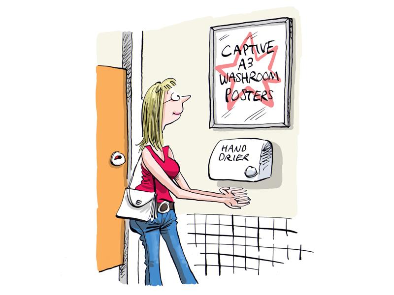 positive media marketing washroom advertising photo 1